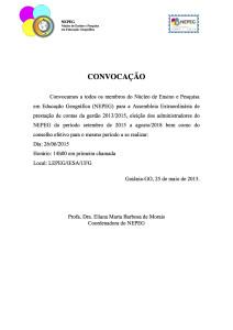 2015 Convocação Eleição NEPEG